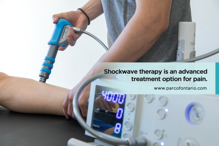 Shockwave therapy is an advanced treatment option for pain