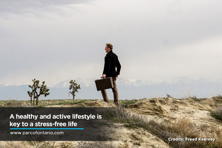 healthy and active lifestyle is key to a stress-free life
