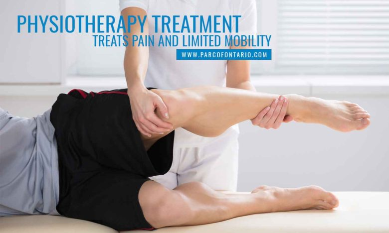 Physiotherapy treatment treats pain and limited mobility