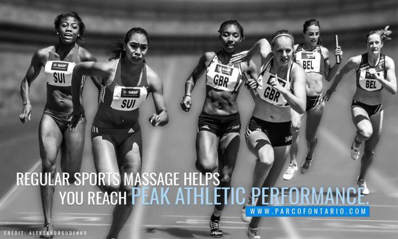 Regular sports massage reach peak athletic performance